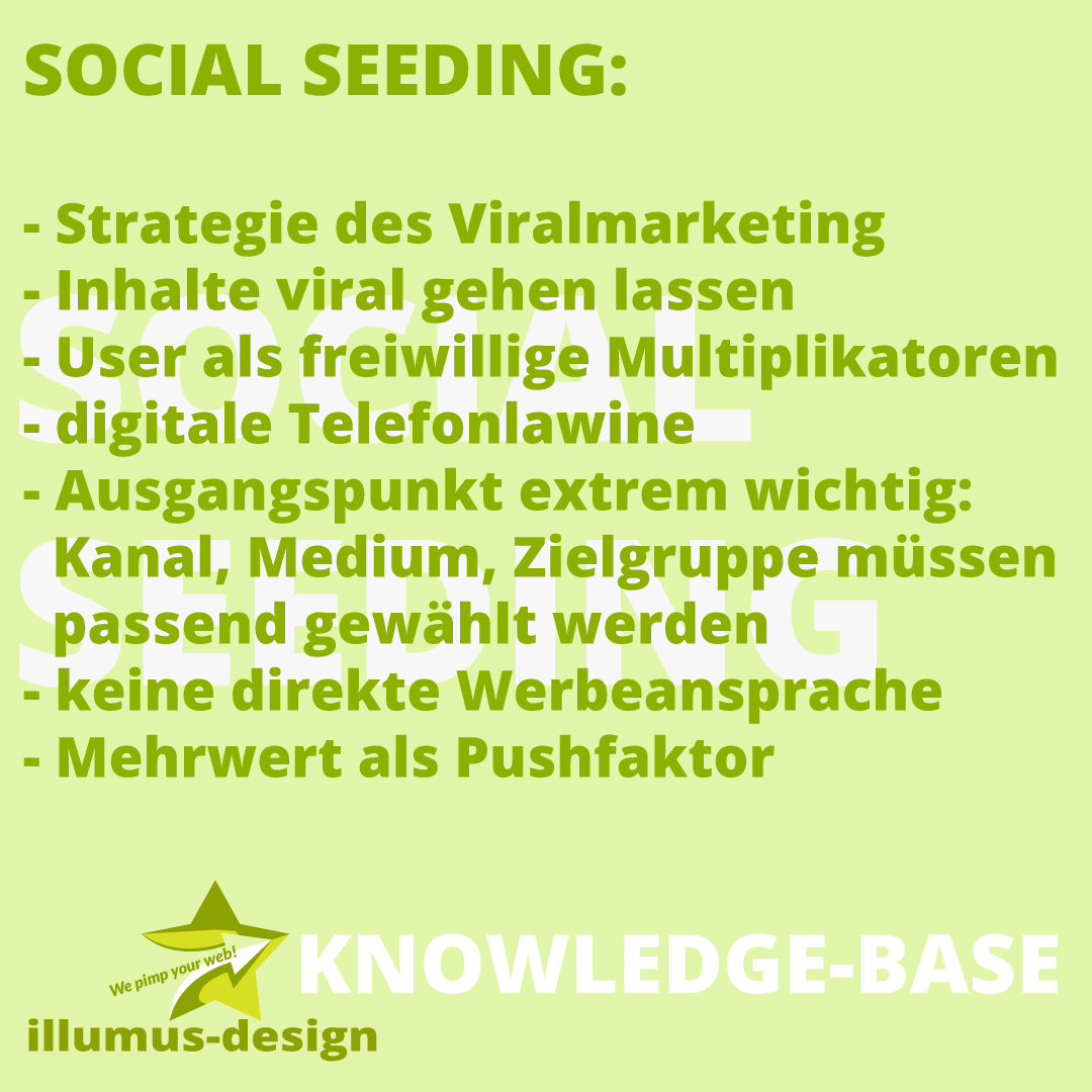 Definition Social Seeding - illumus-design Knowledge-Base