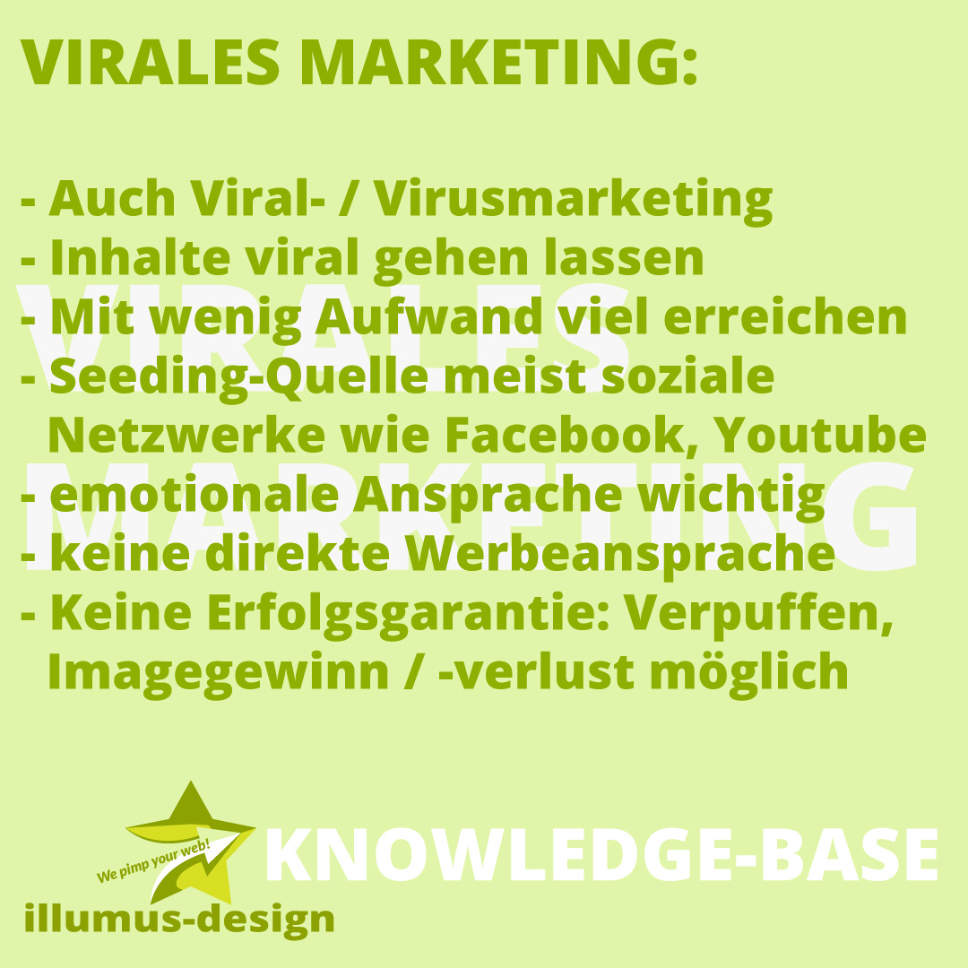 Definition Virales Marketing - illumus-design Knowledge-Base
